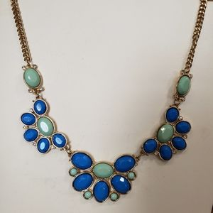 Rhinestones vintage style costume jewelry necklace